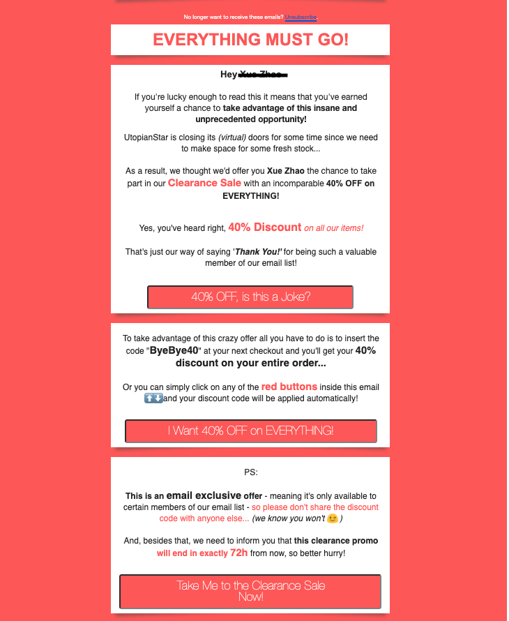 ugly email template