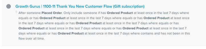 Klaviyo automated flows
